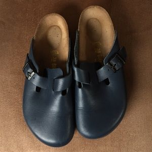 Birkenstock Mule blue leather size 38